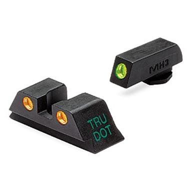 Meprolight® Tru-Dot® ML-10224 Fixed Front / Rear Sights for Glock 9, .357, .40 & .45 GAP cal., Green / Orange