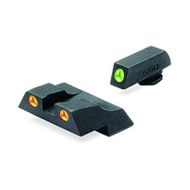 Meprolight® Tru-Dot® ML-10226 Fixed Front / Rear Sights for Glock 26 & 27, Green / Orange