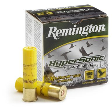 "Remington® HyperSonic Steel™ 20 Gauge 3"" 2 Shot 7/8 oz. Shot Shells, 25 rounds"