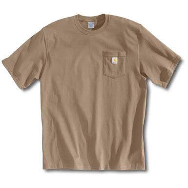 Carhartt Men's Workwear Short-Sleeve Pocket T-Shirt, Slight Irregulars, Desert