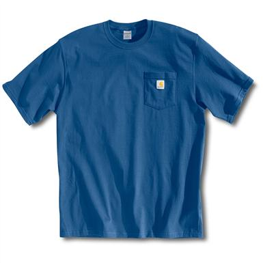 Carhartt Men's Workwear Short-Sleeve Pocket T-Shirt, Slight Irregulars, Royal Blue