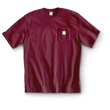 Carhartt Men's Workwear Short-Sleeve Pocket T-Shirt, Slight Irregulars, Port