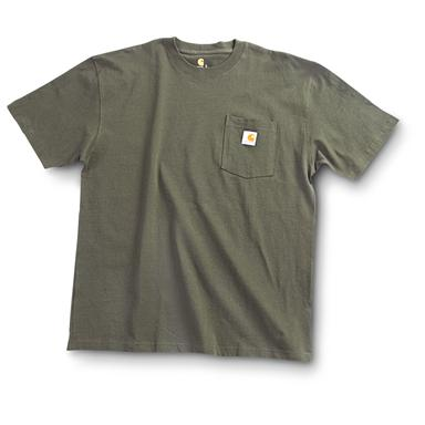 Carhartt Men's Workwear Short-Sleeve Pocket T-Shirt, Slight Irregulars, Olive Green
