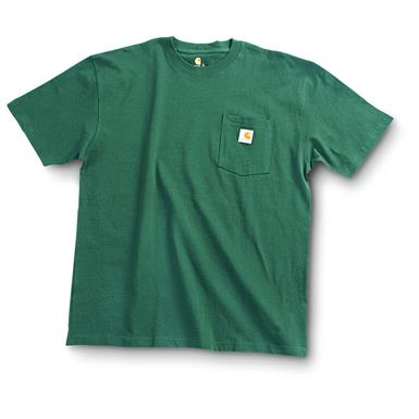 Carhartt Men's Workwear Short-Sleeve Pocket T-Shirt, Slight Irregulars, Hunter Green
