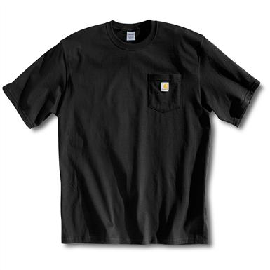 Carhartt Men's Workwear Short-Sleeve Pocket T-Shirt, Slight Irregulars, Black