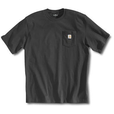 Carhartt Men's Workwear Short-Sleeve Pocket T-Shirt, Slight Irregulars, Charcoal