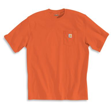 Carhartt Men's Workwear Short-Sleeve Pocket T-Shirt, Slight Irregulars, Orange