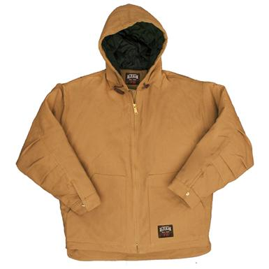 Men's Key® Flame-resistant Insulated Hooded Duck Jacket, Caramel Brown
