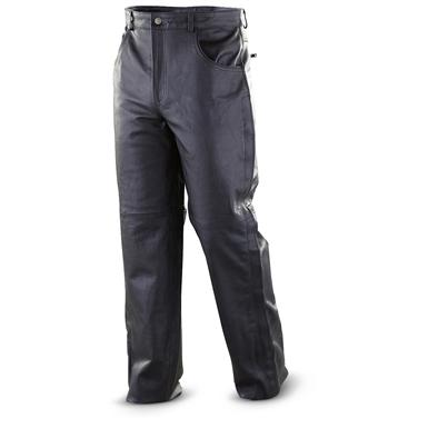 "Mossi® 34"" Inseam Leather Pants, Black"