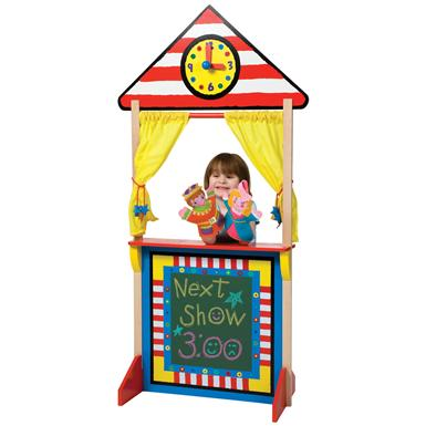 Alex® Puppet Theater with Clock