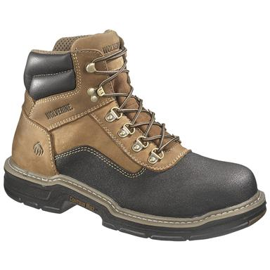 Men's Wolverine® 6 inch Corsair Waterproof Composite Toe, EH Work Boots, Brown