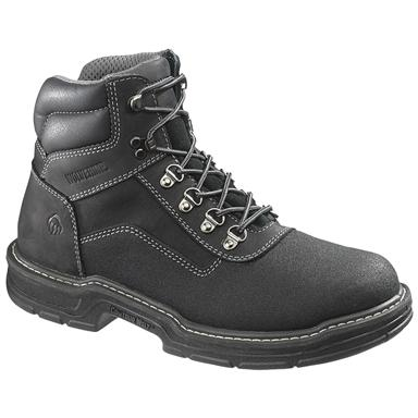 Men's Wolverine® 6 inch Corsair Waterproof Composite Toe, EH Work Boots, Black