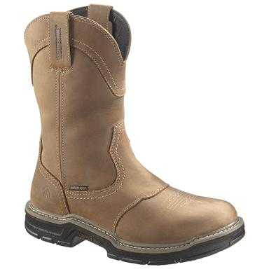 Men's Wolverine® 10 inch Anthem Waterproof Steel Toe, EH Wellington Work Boots, Brown
