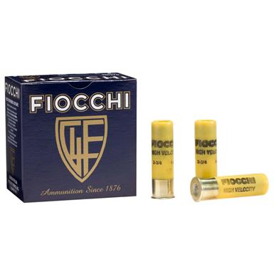 "Fiocchi, 3"" 20 Gauge, 1 1/4 ozs. High Velocity Loads, 25 Rounds"