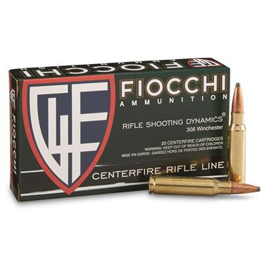 Fiocchi, .308 Win, PSP, Rifle Shooting Dynamics, 150 Grain, 20 Rounds