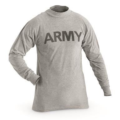 U.S. Army Surplus Long Sleeve T-Shirts, 2 pack, New