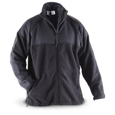 U.S. Military Surplus Polartec Fleece Jacket, New, Black