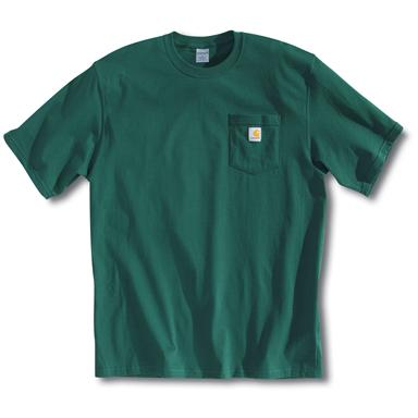 Men's Carhartt® Workwear Short-sleeve Pocket T-shirt, Hunter Green