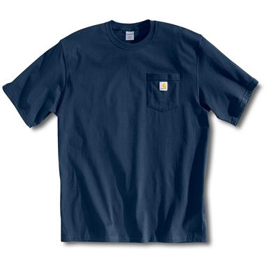 Men's Carhartt® Workwear Short-sleeve Pocket T-shirt, Navy