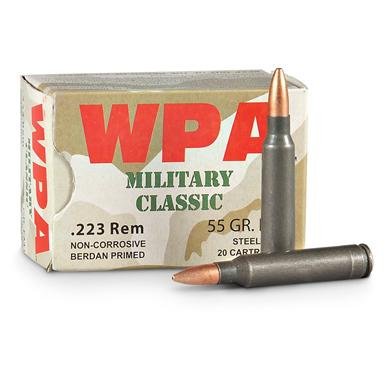 WPA Military Classic, .223, HP, 55 Grain, 240 Rounds