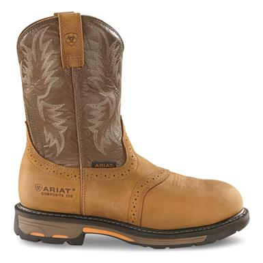 Ariat Men's WorkHog Composite Toe Western Work Boots, Aged Bark
