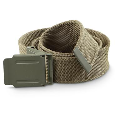 2 Mil-Tec® Military Surplus-style Web Belts, Olive Drab