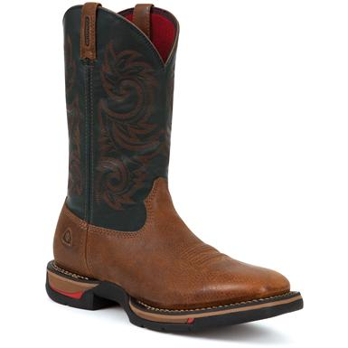 Men's Rocky® Long Range Square Toe Waterproof Cowboy Boots, Brown/Navy