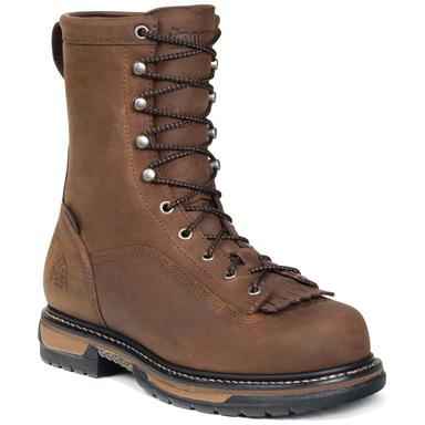 "Men's Rocky Iron Clad 8"" Waterproof Work Boots, Copper"