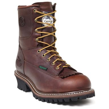 Men's Georgia® Waterproof Logger Work Boots, Bark