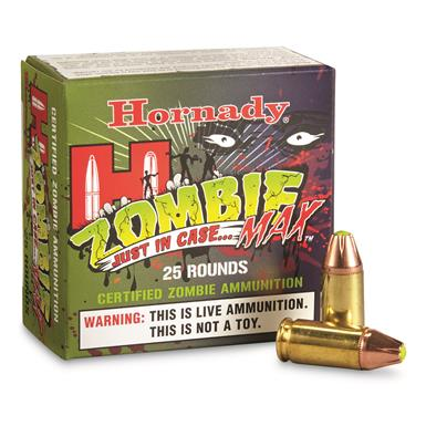 Hornady Zombie Max, 9mm Luger, JHP, 115 Grain, 25 Rounds
