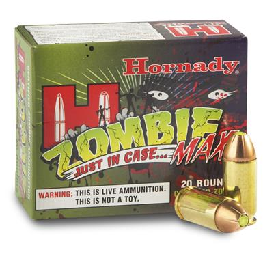 Hornady Zombie Max, .45 ACP, JHP, 185 Grain, 20 Rounds