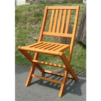 VIFAH® Marcana Outdoor Wood Folding Chairs, Set of 2