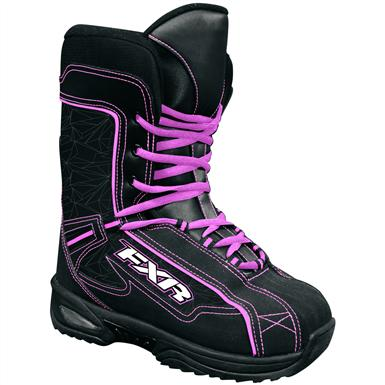 Women's / Youth FXR® Cold Cross Snowmobile Boots, Black / Fuchsia
