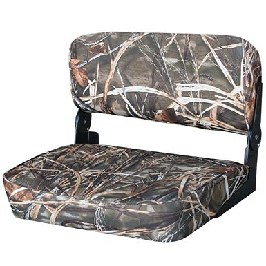 Wise® 22 inch Folding Duck Boat Bench Seat, Mossy Oak Break-Up™