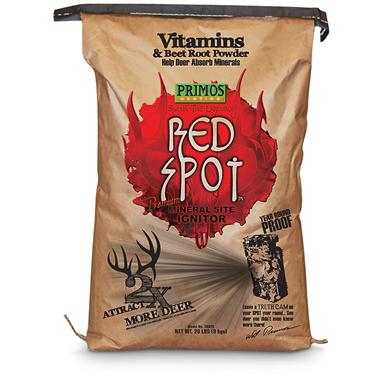 20 lbs. Primos® Red Spot™ Vitamins & Beet Root Mineral Site Ignitor