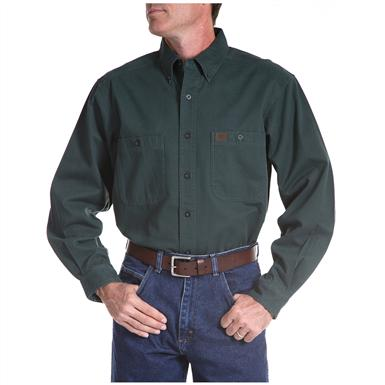 Men's Riggs® Twill Work Shirt, Forest Green