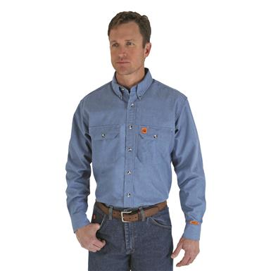 Wrangler® RIGGS Workwear® Men's FR Flame Resistant Work Shirt, Denim