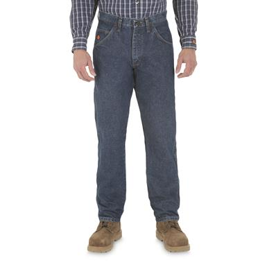 Wrangler® RIGGS Workwear® Men's FR Flame Resistant Relaxed Fit Jeans, Denim