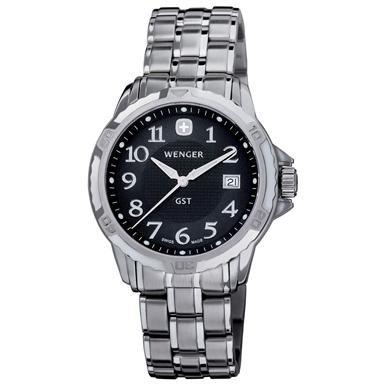 Men's Wenger® 78236 GST® Watch with Stainless Steel Band, Black