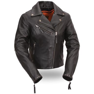 Women's First Classic® Riveted Classic M/C Jacket, Black
