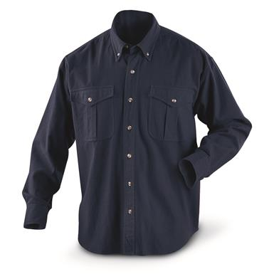 Guide Gear Men's Cotton Chamois Shirt, Navy