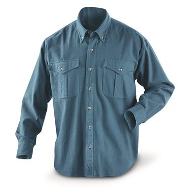 Guide Gear Men's Cotton Chamois Shirt, Medium Blue