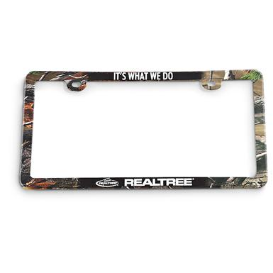 "2 Realtree® License Plate Frames, • ""It's What We Do!"""