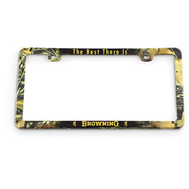 Browning® License Plate Frame, Mossy Oak®