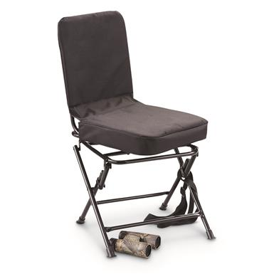 Guide Gear Swivel Hunting Chair, Black • 360 Degree Rotation • 300-lb. capacity