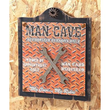 "Wooden ""Man Cave"" Sign"