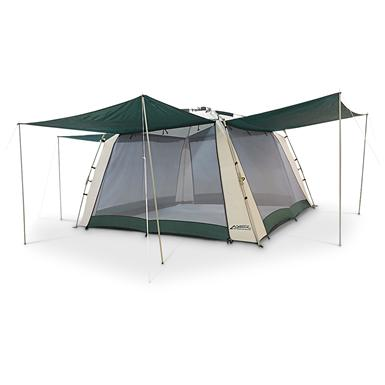 4-awning 11x11 foot Screen House • 11 feet 2 inches x 11 feet 2 inches • 7 feet h.