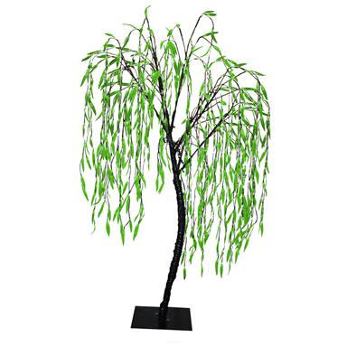 6 1/2' LED Willow Tree, Green