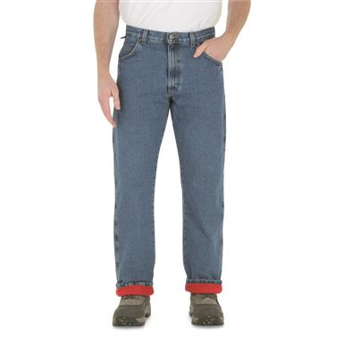 Wrangler Men's Rugged Wear Thermal Jeans, Stonewash