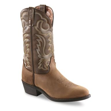 "Guide Gear Men's 12"" Cowboy Boots, Tan"